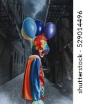 clown with a bunch of balloons... | Shutterstock . vector #529014496