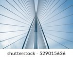 Stock photo bridge and blue sky 529015636