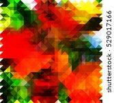 red green background geometric... | Shutterstock .eps vector #529017166