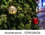 christmas tree with decoraive... | Shutterstock . vector #529018426