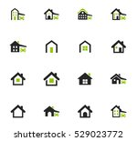 houses icon set for web sites... | Shutterstock .eps vector #529023772