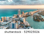 helicopter view of south beach  ... | Shutterstock . vector #529025026