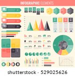 infographic elements collection.... | Shutterstock .eps vector #529025626