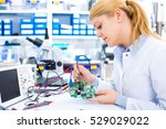 engineer working with circuits. ... | Shutterstock . vector #529029022