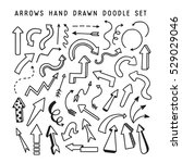 hand drawn arrows doodle set.... | Shutterstock .eps vector #529029046