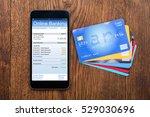 mobile phone online banking | Shutterstock . vector #529030696