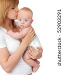 mother with baby isolated on... | Shutterstock . vector #52903291