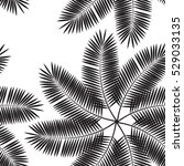 palm leaf seamless pattern... | Shutterstock . vector #529033135
