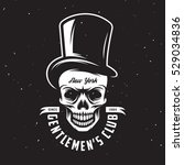 Vintage Gentleman Club Emblem...