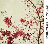 flower and branch on paper art... | Shutterstock . vector #52903660