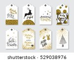 christmas  new year gift tags... | Shutterstock .eps vector #529038976