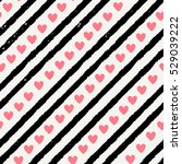 seamless pattern with stripes... | Shutterstock .eps vector #529039222