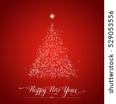 happy new year stylized shining ...   Shutterstock .eps vector #529053556