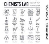 biohazard chemists in chemistry ... | Shutterstock .eps vector #529053928