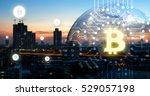 blockchain   cryptocurrencies   ... | Shutterstock . vector #529057198