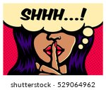shhh  less talk  more action ... | Shutterstock .eps vector #529064962