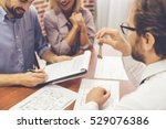 beautiful couple is talking... | Shutterstock . vector #529076386