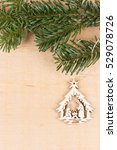 Wooden Nativity Scene Hanged O...
