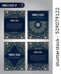 tribal mandala design set.... | Shutterstock .eps vector #529079122