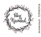 feliz navidad hand lettering