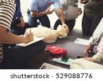 cpr first aid training concept | Shutterstock . vector #529088776
