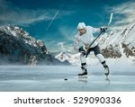 ice hockey player in action... | Shutterstock . vector #529090336