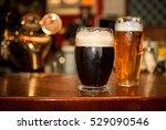 cold dark beer with light beer... | Shutterstock . vector #529090546
