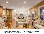 beautiful furnished living room ... | Shutterstock . vector #529098295