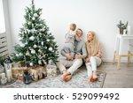 cute baby boy decorating... | Shutterstock . vector #529099492