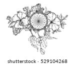 black and white hand drawn... | Shutterstock . vector #529104268