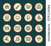 medicine web icons set | Shutterstock .eps vector #529114066