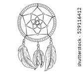 hand drawn indian mascot... | Shutterstock .eps vector #529116412