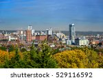 Leeds city skyline yorkshire united kingdom .