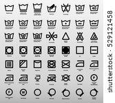 international laundry washing... | Shutterstock .eps vector #529121458
