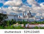 madrid cathedral santa maria la ... | Shutterstock . vector #529122685