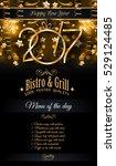 2017 happy new year restaurant... | Shutterstock .eps vector #529124485