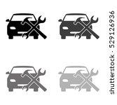 car service    black vector icon | Shutterstock .eps vector #529126936