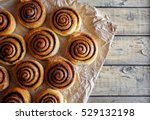 Freshly Baked Buns Rolls With...
