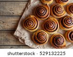 freshly baked cinnamon buns... | Shutterstock . vector #529132225