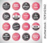 vector illustration of vintage... | Shutterstock .eps vector #529142362
