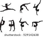 set of elegant gymnast's...   Shutterstock .eps vector #529142638