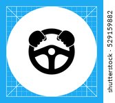 steering wheel simple icon | Shutterstock .eps vector #529159882