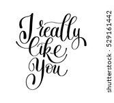 i really like you. love letter  ... | Shutterstock .eps vector #529161442