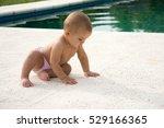 cute little baby eats... | Shutterstock . vector #529166365