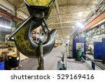 powerful hook crane close up.... | Shutterstock . vector #529169416