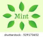 natural fresh green leaves mint | Shutterstock .eps vector #529173652