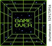 8 bit pixel game over vortex | Shutterstock .eps vector #529173916