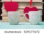 coffee with heart shapes over... | Shutterstock . vector #529177672
