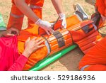 a team of emergency medical... | Shutterstock . vector #529186936