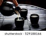 tasty sake in asian restaurant... | Shutterstock . vector #529188166
